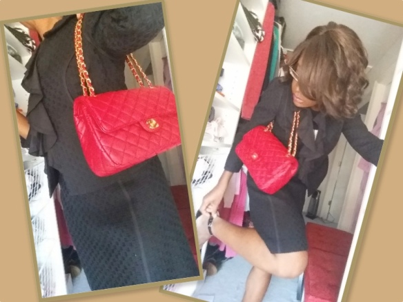 Red Chanel 2.55 classic double flap shoulder bag Cost: ~$65