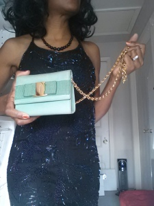 Beaded Gown Ferragamo Purse