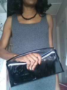 Cashmere Dress Patent Clutch